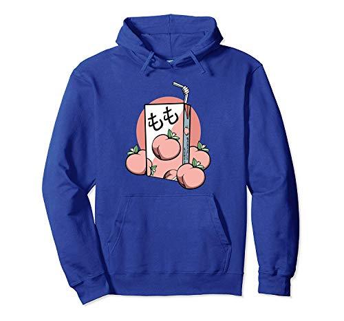 hyg03j4 90s Japanese Aesthetic Peach Juice Drink Japan-Lover Pullover Hoodie XL