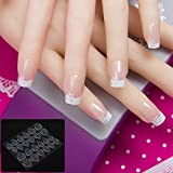 YZLIIN UñAs Postizas 24Pcs / Set Pre Design Fake Nail Tips 10 Size 3D Acrylic Nails Full French Nail Art Tips Con Cinta Adhesiva De Pegamento Para Uñas Gratis