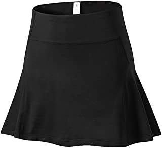 QitunC Women's Active Tennis Golf Skort Mini Skater Skirts Athletic Sports Running Skirt with Pockets and Shorts