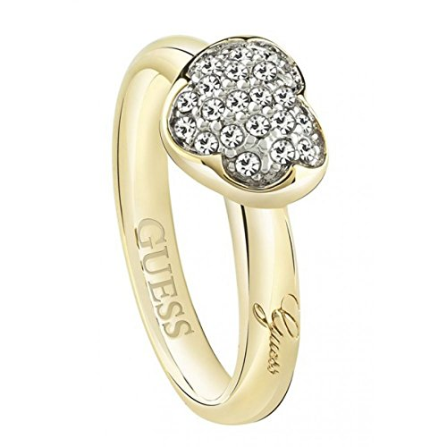 Guess Heartshell UBR72502-54 Women's Ring Crystal White Size 54 (17.2)