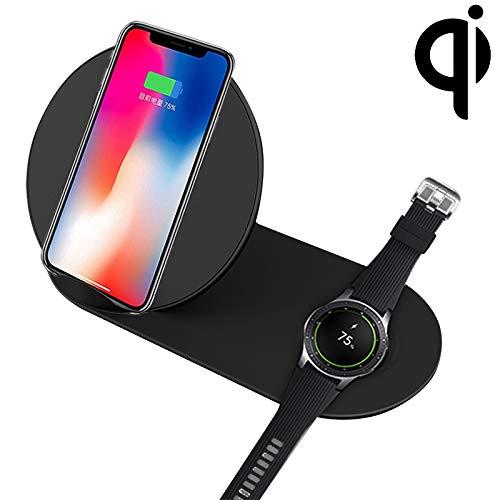 G-rf Draadloze Oplader N26-2 Qi Standaard Quick Draadloze oplader 10W, for iPhone, Galaxy, Xiaomi, Google, LG, Galaxy Kijk en andere QI Standard Smart Phones (zwart) (Color : Black)