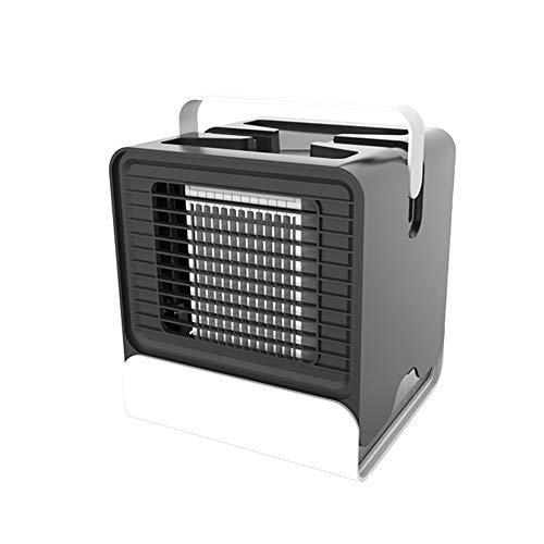 Fat Bear Mini Persoonlijke Air Conditioner Negatieve Ion Airconditioning Ventilator Draagbare USB Multifunctionele Kleine Snelle Koeling Ventilator met Handvat Gemakkelijk te dragen voor Zomer Slaapkamer Slaapzaal Office Bk