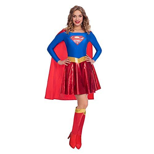 Women's Classic Supergirl 80s Movie Costume, Sizes 12-14, 16-18,