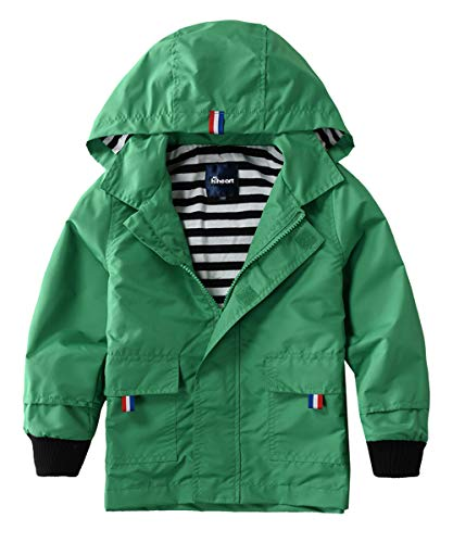 Hiheart Boys Waterproof Hooded Jackets Cotton Lined Rain...