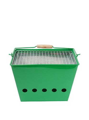 pt, PT1557GR Barbecue Portable Indian Summer Zinc 34 x 23 x 25,5 cm Vert