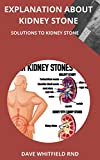 EXPLANATION ABOUT KIDNEY STONE: SOLUTIONS TO KIDNEY STONE (English Edition)