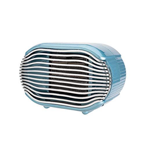 ASY PTC-Keramik-Heizung, elektrische Heizung, tragbare Mini-Heizlüfter Schnellheizung mit Zeitschaltuhr Einstellbare Thermostat Personal Heizgeräte Gebläse for Home Office (Color : Blue)
