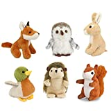 Living Nature- Lot de 6 minis Peluches d'Animaux, AMZ05WL, Unknown