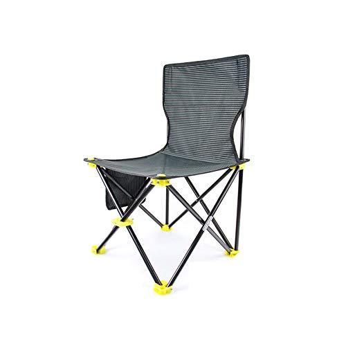 DEI QI Chaise Pliante d'extérieur, Portable Ultra-léger, Chaise de pêche, Chaise Art Sketch, Tissu à Double Couche est Plus Ferme, Chaise multifonctionnelle (Size : M)