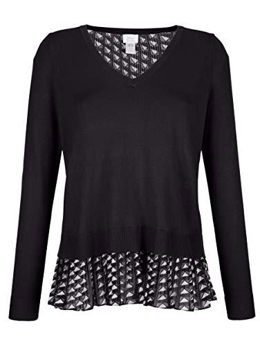 Alba Moda Damen Pullover Schwarz 40