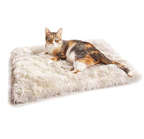 Hamkaw selbstwärmendes Hundebett, faltbar, wandelbar, selbstwärmendes Plüsch-Katzenbett, maschinenwaschbar und abnehmbar, Thermo-Kissen, für Reisen und zu Hause, drinnen und draußen