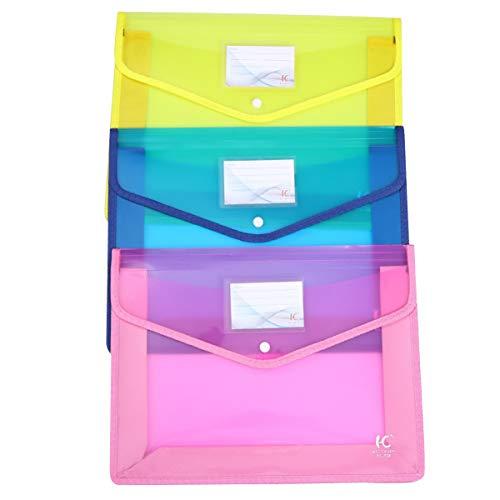 STOBOK 3 Stück Plastik-Poly-Umschläge Durchsichtige Dokumentenordner Die Den Dateiorter Erweitern Stellen Den Präsentationsorganisator für Das Schulbüro Wieder Her (Muster 4)