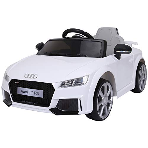 Aosom 6V Audi TT RS Kids Electric Sports Car Ride On Toy One Seat for Kids 3-8 Years Old with Remote Control - White