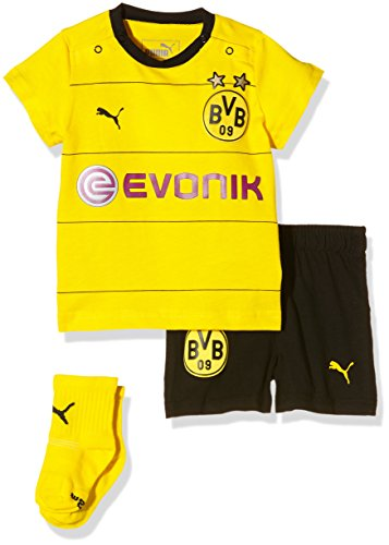 PUMA Baby Set BVB Home Babykit with Socks und Sponsor Stutzen, Cyber Yellow, Black, 68