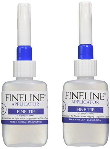 Fineline Applicators 20 Gauge Applicators & Bottles - Empty, pack of 2