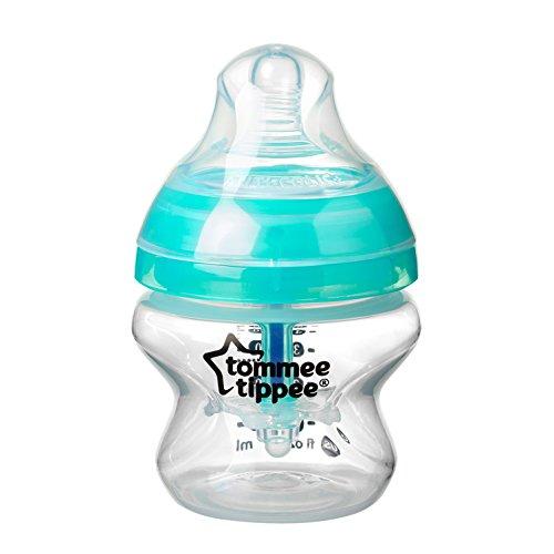 Tommee Tippee Biberón con Sistema Anti-cólicos Avanzado, 150 ml, Azul, 1 Unidad
