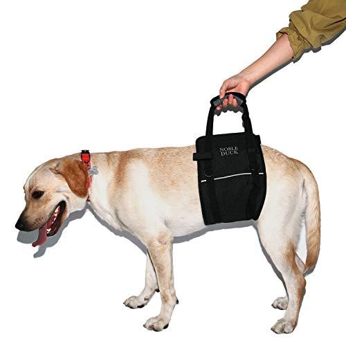 NOBLE DUCK Imbracatura Portatile per Cani con Tracolla Regolabile, Fascia Riflettente per Aiutare a Sollevare la Parte Posteriore del Cane, Supporto per Cani Anziani e disabili (Medium)
