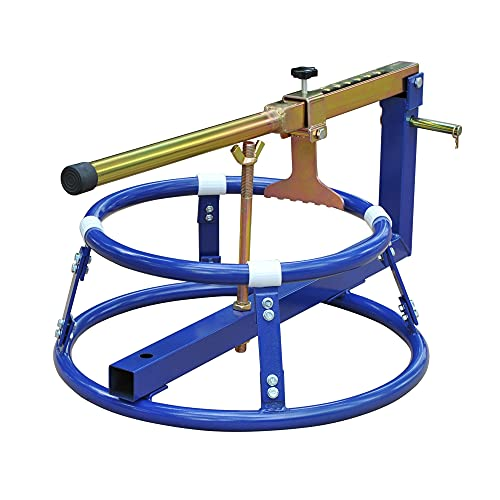 HOMCOM Motorcycle Tire Changer Machine with Adjusable Bead Popper and Leverage Handle Fit for 16' -...