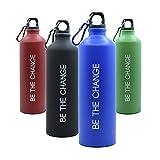 Botella de Agua 800ml, Aluminio - Muy Ligera, Ideal para Deporte, Trabajo y Colegio (Blue)