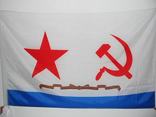 AZ FLAG Flagge SOWJETISCHE Marine 90x60cm - SEEKRIEGSFLOTTE DER UDSSR Fahne 60 x 90 cm Scheide für Mast - flaggen Top Qualität