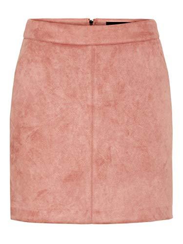 Vero Moda Vmdonnadina Faux Suede Short Skirt Noos Falda, Rosa (Old Rose Old Rose), Medium para Mujer