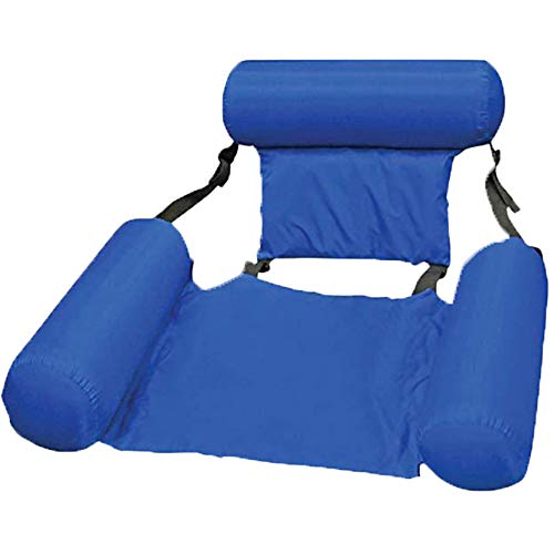 Foldable Backrest Inflatable Floating Bed Floating Row Water Amusement Lounge Chair Water Inflatable Floating Bed Sofa Water Bed Lounge Chairs