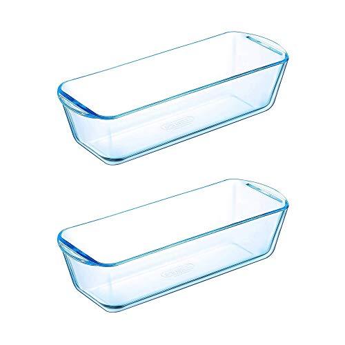 Pyrex Classic Bake & Enjoy Glass Loaf Dish 28cm 1.5 Litre Transparent (Pack of 2)