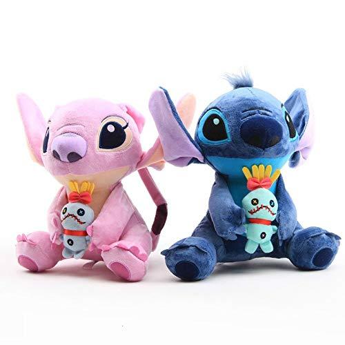 Pupazzo di pezza 2 Pz / Set 25 Cm Kawaii Stitch Doll Giocattoli di Peluche Anime Farcito Bambola Carino Stich Giocattoli di Peluche Bambini Bambini Regalo di Compleanno