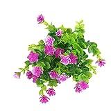 YANFANG 2 Paquetes de Flores Artificiales al Aire Libre Flores Falsas Arbustos Verdes Porche de jardín,Amo Flores Artificiales Tacto Real Decoración para Boda, Fiestas, Hogar
