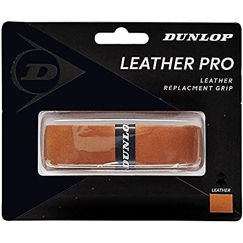 Dunlop Unisex-Adult 613253 Leather Pro Replacement Tennis Grip 1 Stück, Braun, One Size