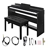 Digital Piano,Les Ailes de la Voix 88 Key Electric Piano Home Piano Electric Keyboard with Cover for Beginner Adults with 3 Pedal Board,Music Stand,Power Adapter,Headphone,Instruction Book