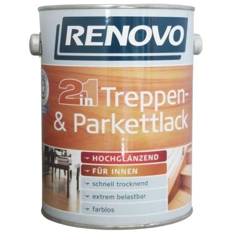 Renovo, 750 ml Treppen- & Parkettlack, 2in1, Farblos hochglänzend, 9,99 €/L.