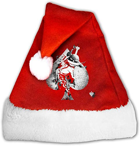 One Piece Portgas Ace Montage White Fade Santa Claus Father Christmas Hats for Adults and Teens Unisex 12 * 17 Inch (W*H)