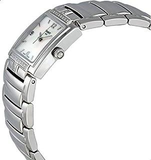 ساعة تيسوت للنساء كوارتز، T051.310.61.117.00، عرض انالوج بسوار ستانلس ستيل، لؤلؤية