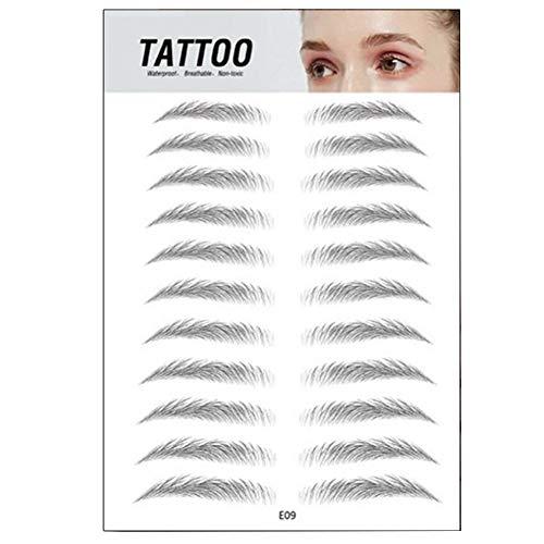 XHXseller Autocollant de sourcil adhésif, Autocollants de Forme de Sourcils réutilisables pour Les Femmes, Autocollant de sourcil adhésif, Effet 4D Accessoire de Maquillage Permanent
