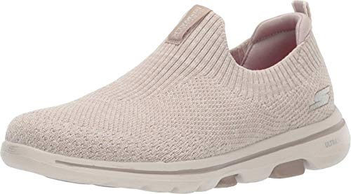 Skechers GO Walk 5-15952 Sneaker, Taupe, 10.5 M US