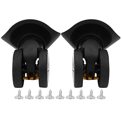Vbest life 2PCS A19 Black Large Suitcase Wheel Double Row Mute Luggage Wheel Universal Luggage Caster Replacement Accessories