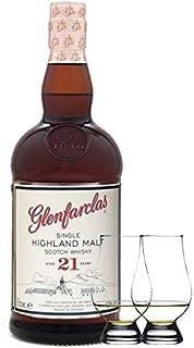 Glenfarclas 21 Jahre Single Malt Whisky 0,7 Liter  2 Glencairn Gläser