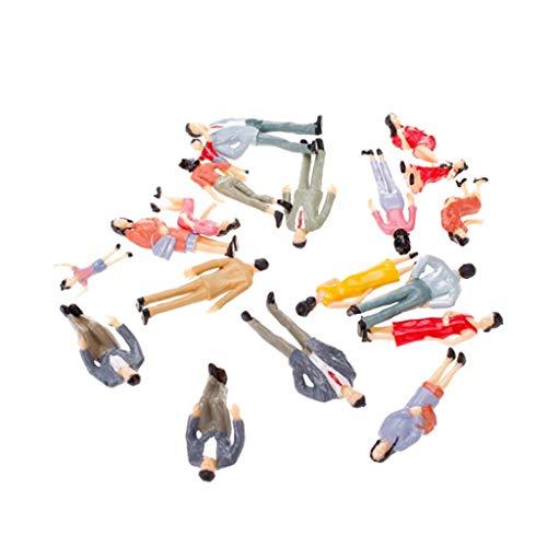 Newin Star 20 Stück 7,6 cm Menschen Figuren für Modellbau 1:25 Modelleisenbahn Figuren in Verschiedenen Halterungen