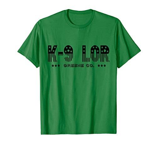 K9 LOR PD Greene County Dog Shirt - Stars and Stripes Theme