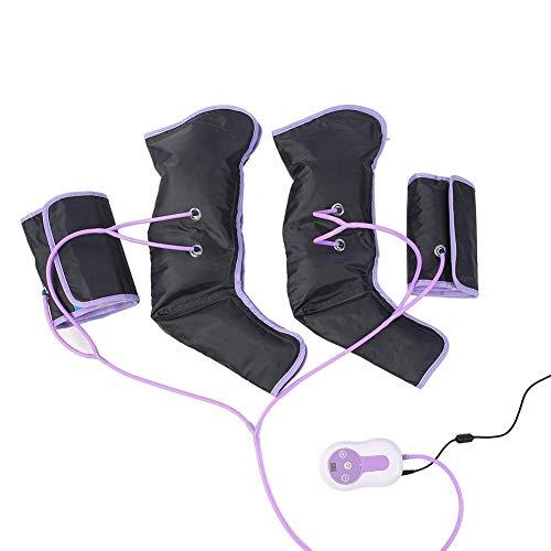 Wandisy Regalo di Luglio Massaggiatore per Gambe a Compressione d Aria, avvolgimenti per Gambe a circolazione elettrica per Terapia del Polpaccio con Caviglie(EU)