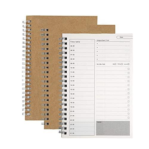 3 Stuks Dagelijks Planner Notitieboek, Kladblok Dagelijks Plan Notebooks, 100 Pagina's/50 Pagina's Elk, Takenlijsten…