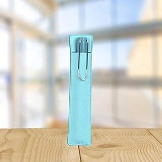 WZRY Domicile Étudiants Sac de Stockage Sac Fontaine Pen Sac Scope Cuir Scope Crayon Papeterie (Color : Blue)