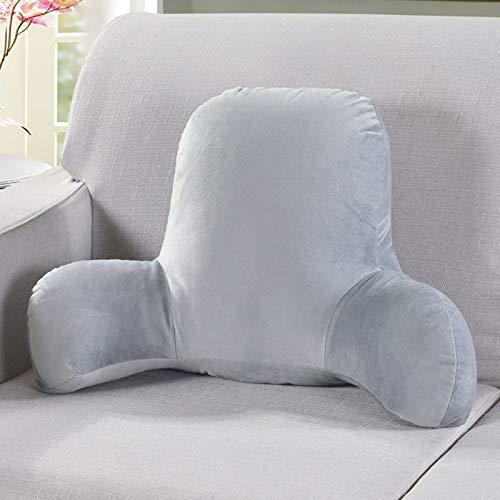Lesekissen/Rückenkissen, Plüsch Große Rückenlehne mit Armlehne, Lesestütze Kissen Bett Rückenlehne Lounge Kissen Rückenstütze zum Sitzen im Bett/Couch