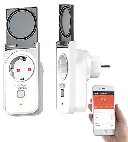 Luminea Home Control WLAN Steckdose Garten: 2 Outdoor-WLAN-Steckdosen, Amazon Alexa & Google Assistant komp, 16 A (Outdoor Zeitschaltuhr)