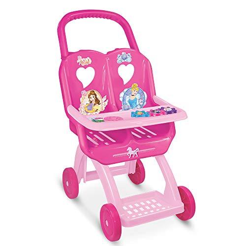 Carro de Boneca Duplo Princesas Lider Brinquedos Rosa/Pink