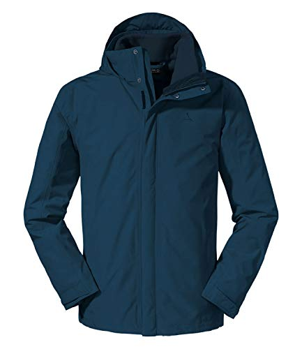 Schöffel 3in1 Jacket Turin1, Giacca Doppia. Uomo, Moonlit Ocean, 54