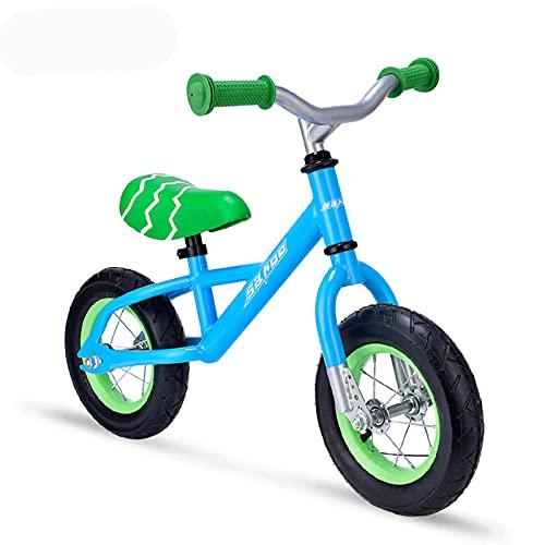 Bicicletas sin pedales, Bicicleta De Equilibrio, Bicicleta De Entrenamiento De Niños Pequeños Durante 18 Meses 2 3 4 Años De Edad, Niños, Liviano, Sin Pedal, Bicicleta, Con Asiento Y Manil(Color:Azul)