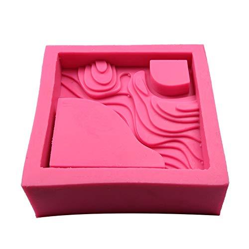 Molde de Silicona para Maceta de Plantas suculentas, Molde de Silicona en Forma de Terracota Cemento de Yeso Flor carnosa Bonsai Molde para cenicero DIY Cenicero