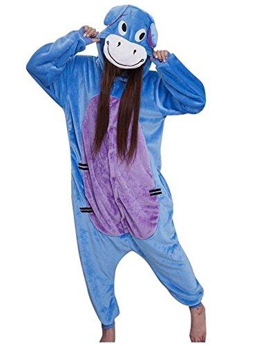 Kostüm für Erwachsene kigurumi Pyjamas Animal Kostuem Halloween Karneval Show Pa...